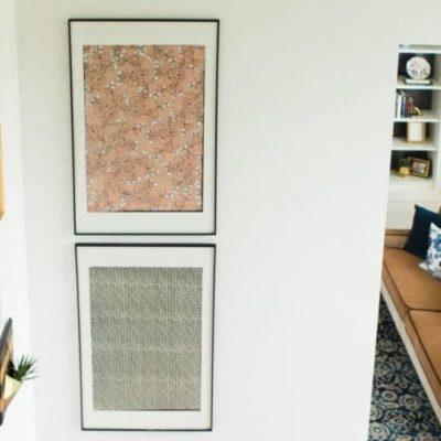 Oversized Art: A Quick, Cheap, DIY Way to Fill Big Walls!
