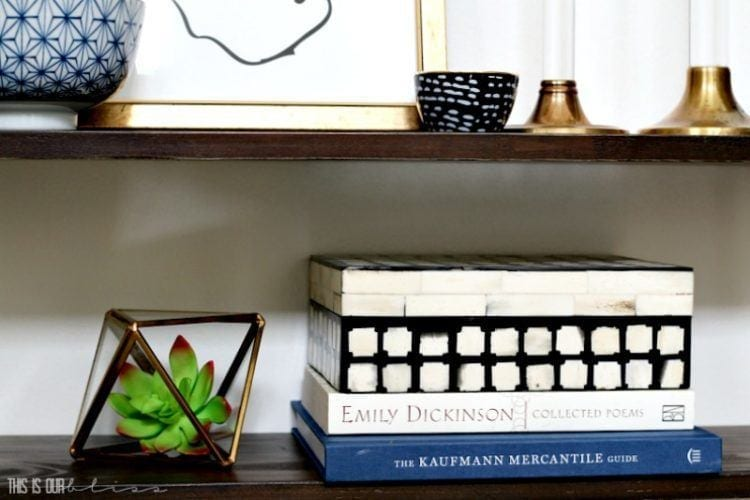 How to Style a Floating Wall Shelf | 5 Simple Tips to help you start creating your wall vignette!