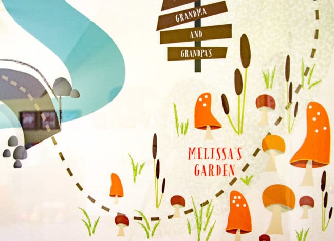 Kid's customizable room decor - camping map