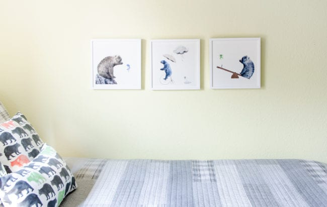 Minted bear prints by Maja Cunningham