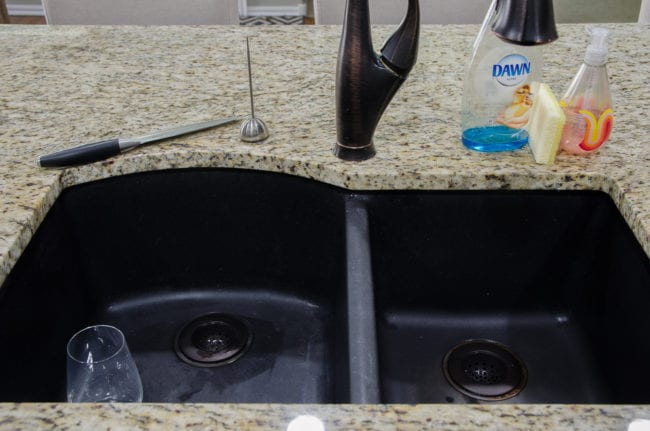 Superieur Itu0027s The Perfect Camoflage Until Weu0027re Ready To Replace The Sink And  Drains. Side Note U2013 Donu0027t Ever Get A Black Sink. Theyu0027re Impossible To Keep  Clean!