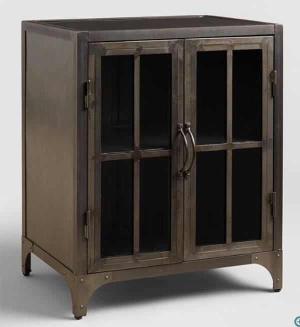 World Market Metal Virgil Accent Cabinet