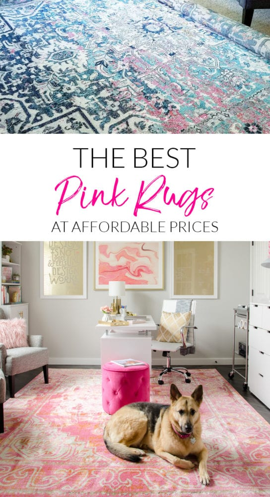 Looking for a pink rug? I found the best options from blush to bold hot pink! And all of them are reasonably priced!