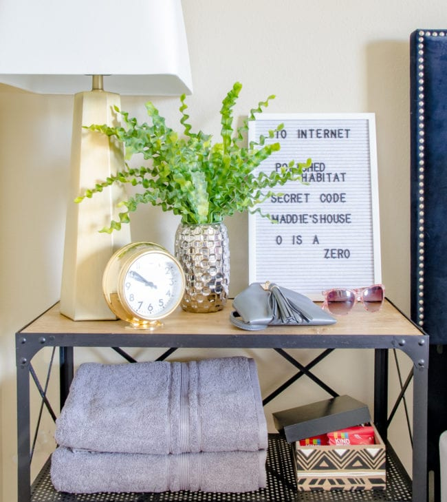 Make sure the wifi password is avable to overnight guests. Click for more tips for creating the perfect stay in your guestroom.