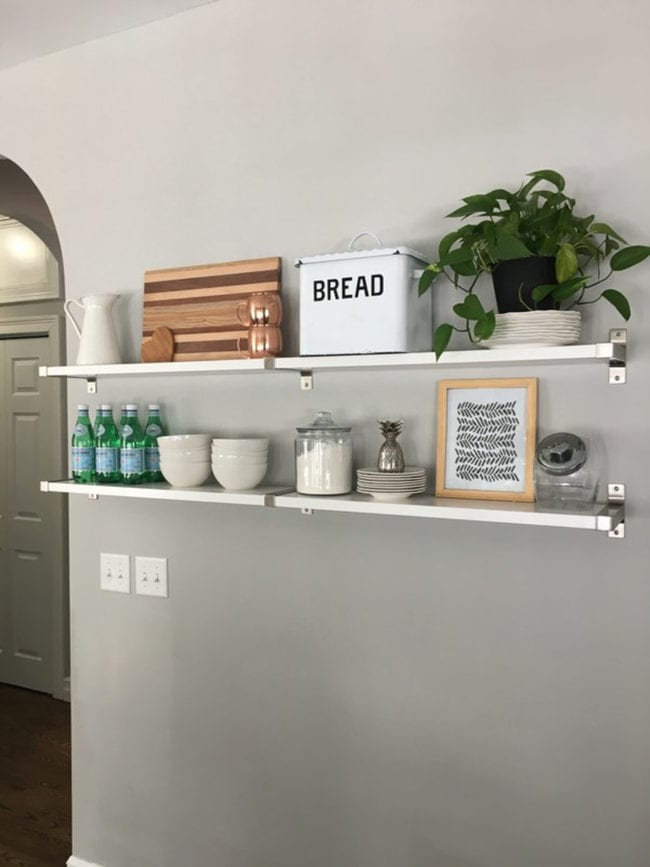 Ideas for decorating open shelf