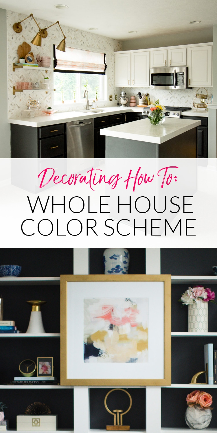 Want to make all your home decor look better together? Try these simple tips for creating a whole house color scheme that makes decorating so much easier.