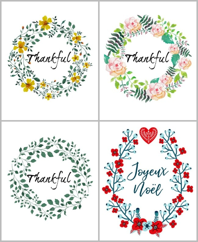 Free holiday printables perfect for renters and small spaces