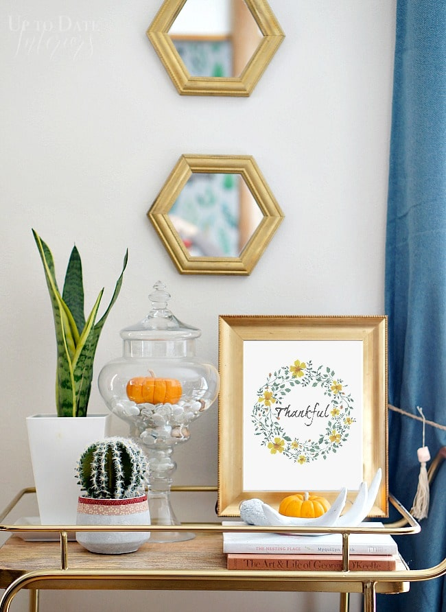 Free thanksgiving printable for easy decor
