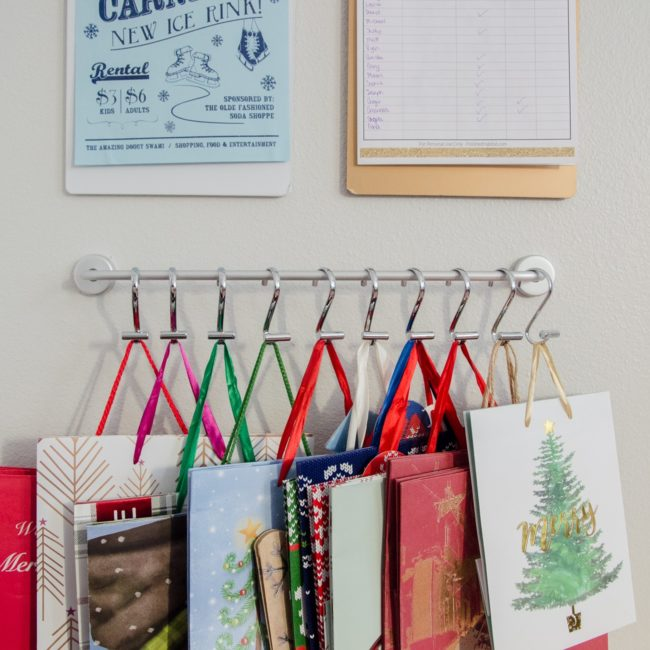 Finally - an organized solution for gift bag storage!