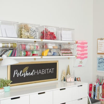 How to Organize Gift Wrapping Supplies – Christmas Edition