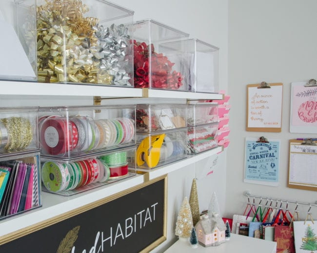 How to Organize Gift Wrapping Supplies - Christmas Edition ...