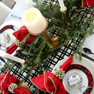 How to Set a Luxe for Less Christmas Table