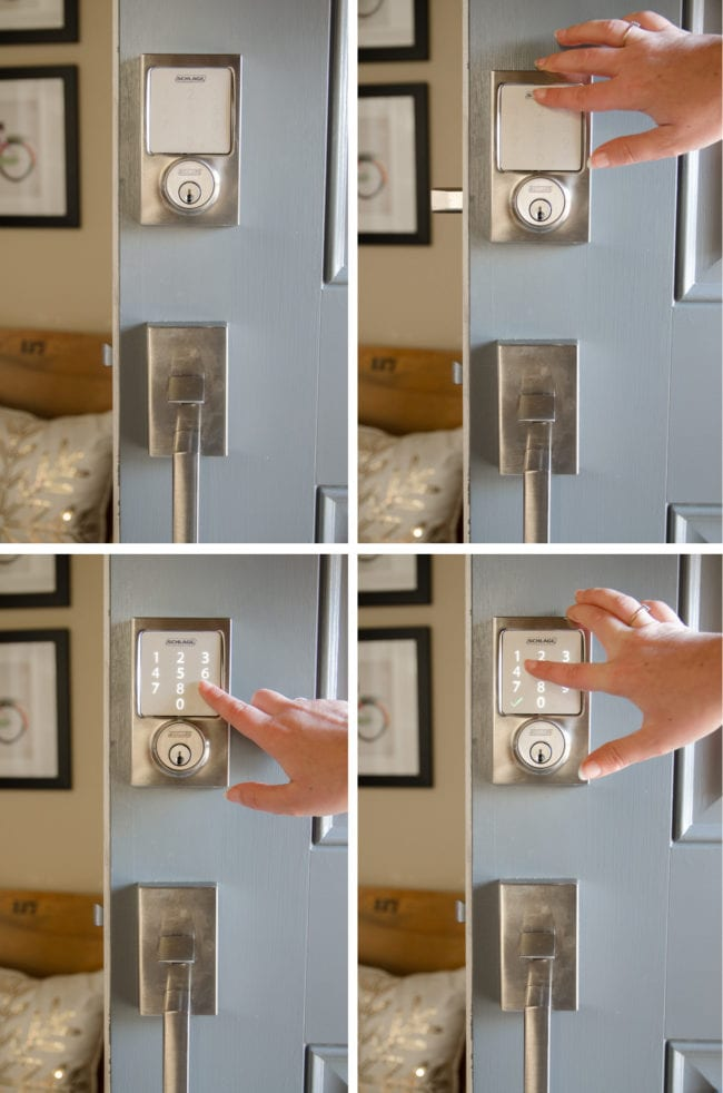 The Schlage Sense is simple to use, adds several security features, and looks great in the silver satin nickel finish and Century trim!