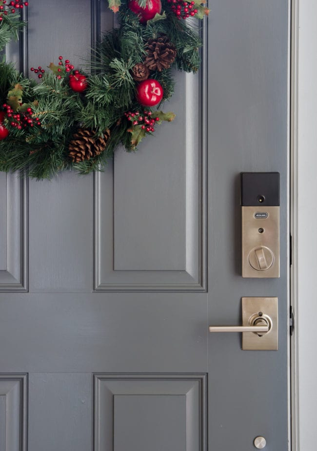 Schlage Sense Keyless Lock in Century Style Satin Nickel Finish