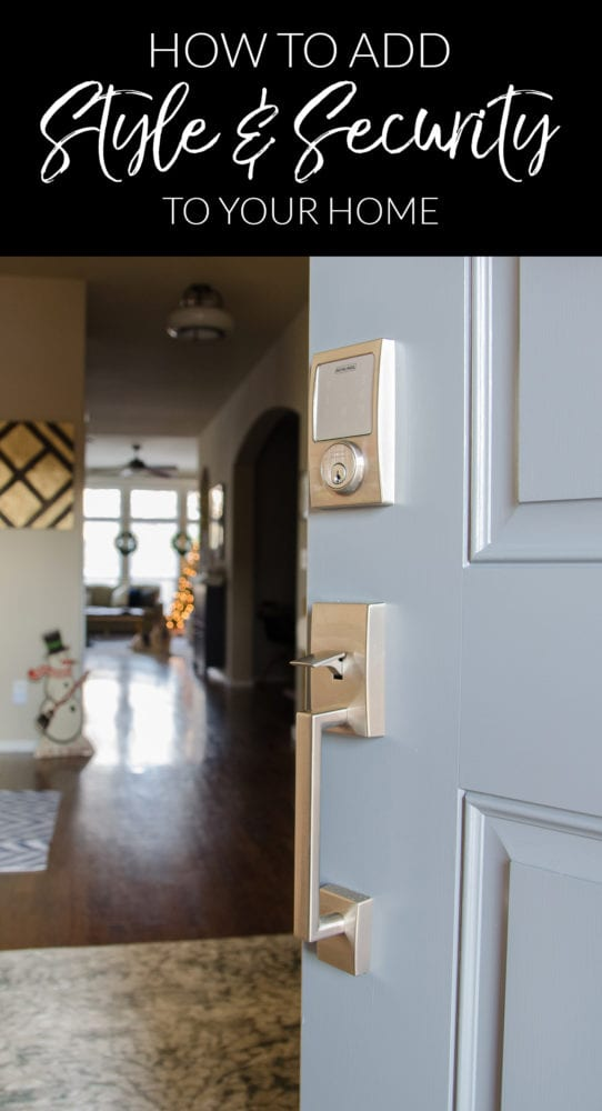 The Schlage Sense lock adds security and convenience to our lives AND style to our entryway! I shared all the reasons we'll never go back to a standard deadbolt in this post.