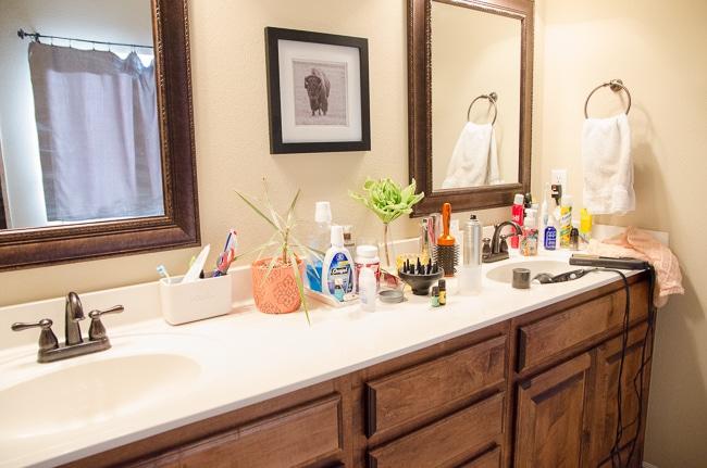 How To Organize The Bathroom Counter, Bathroom Sink Top Organizer