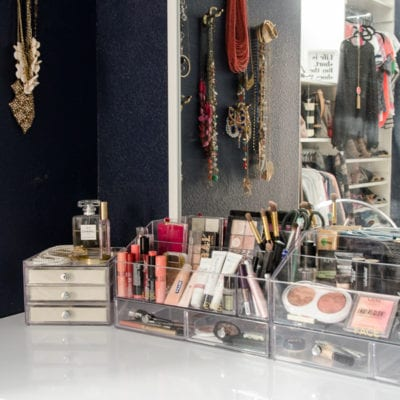 Organizing the Makeup Vanity & A Bit of Jewelry
