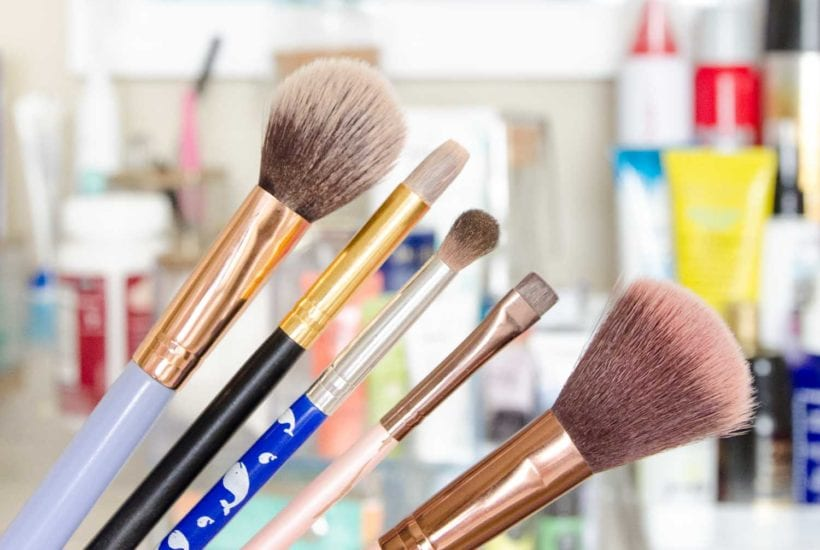 Dirty make up brushes need to be cleaned regularly