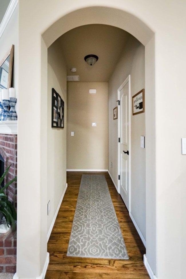 BEFORE photo - short hallway