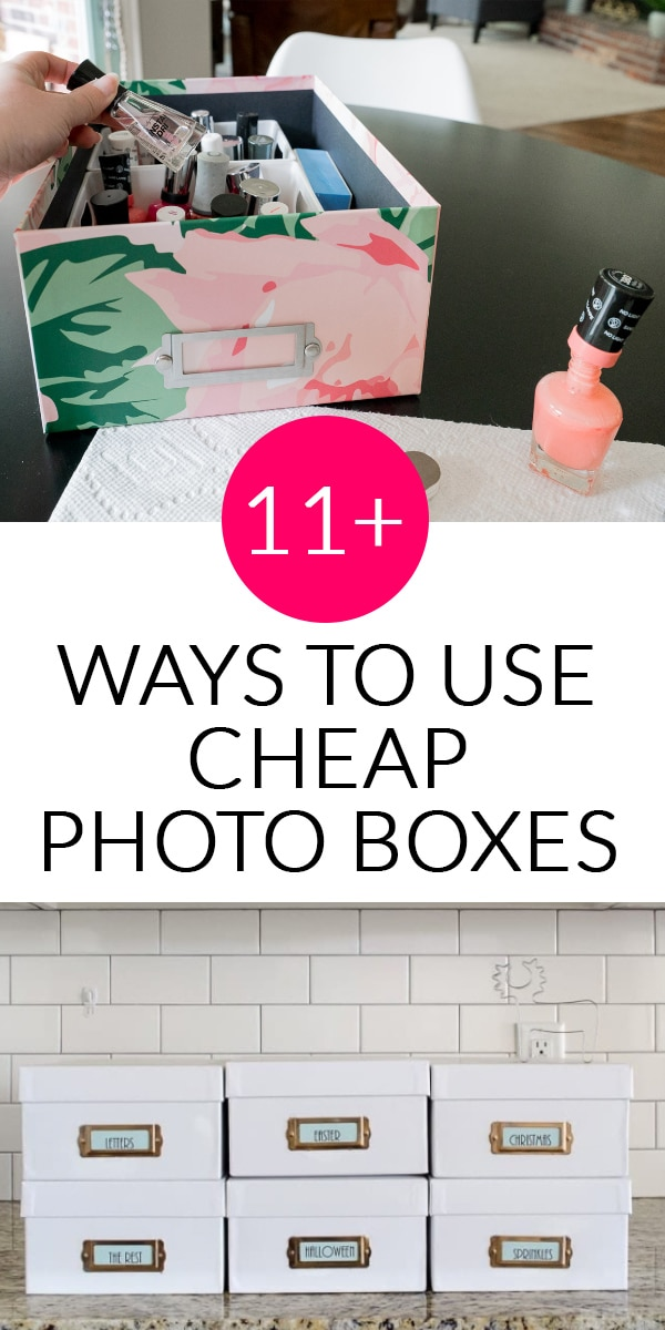 11 ways to use cheap photo boxes to organize your home