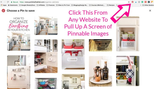 Pinterest Pinning Tutorial with Chrome Pin It Button