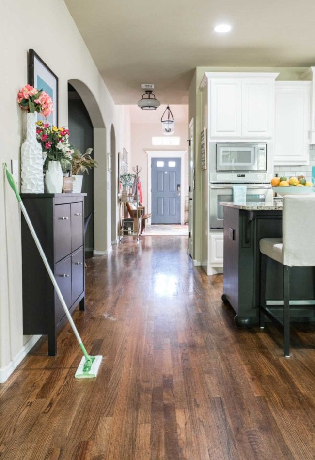 Wood floors with Swiffer to Clean Dog Hair