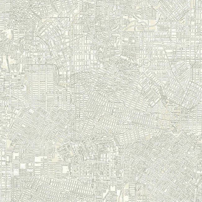 City Map Wallpaper - Removable