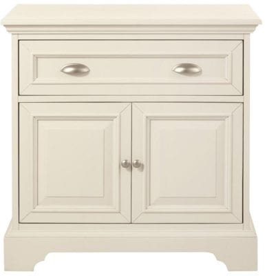 Cream nighstand with storage