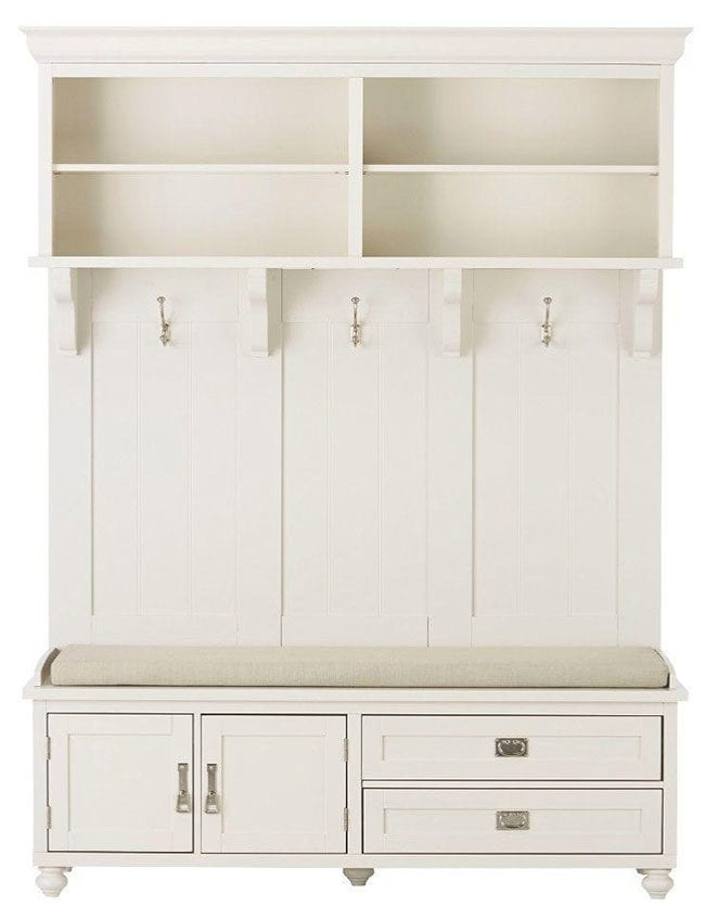 White mudroom furniture
