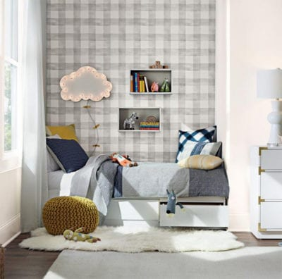 Gray Buffalo Check - Pre-pasted Wallpaper