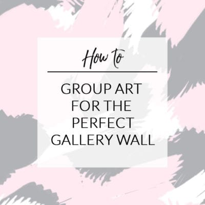 How to Group Art for a Gallery Wall {Reader Q & A}