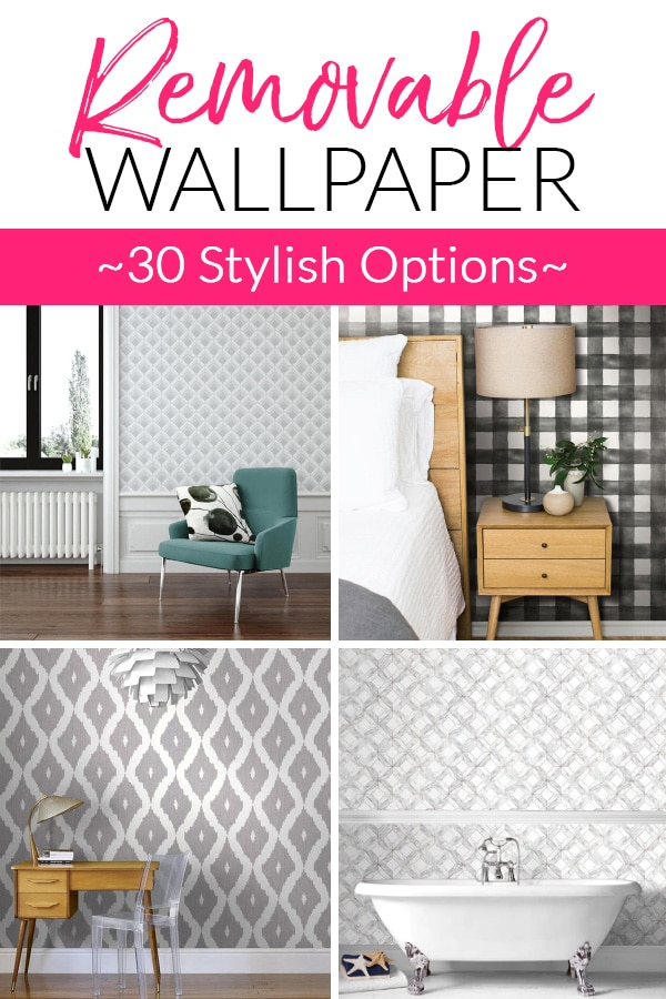 30 Removable Wallpaper Designs - Perfect for renters!