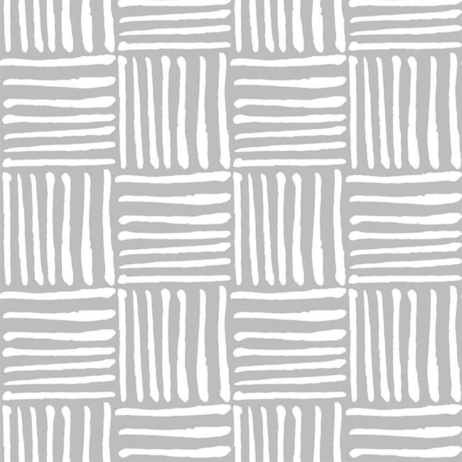 Gray and White Modern Checkerboard - Self-Adhesive