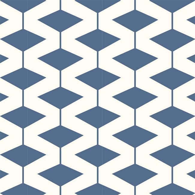 Modern Navy Diamond Wallpaper