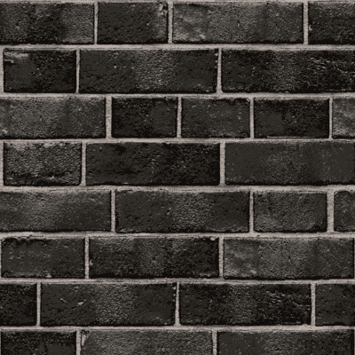Black brick Temporary Wallpaper