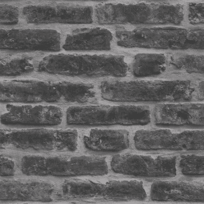 Soft black and gray brick removable wallpaper