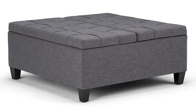 Large Square Ottoman with Storage - 9 Colors available