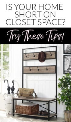 Tips for adding storage to any home - affordable mudroom coat rack bench combo