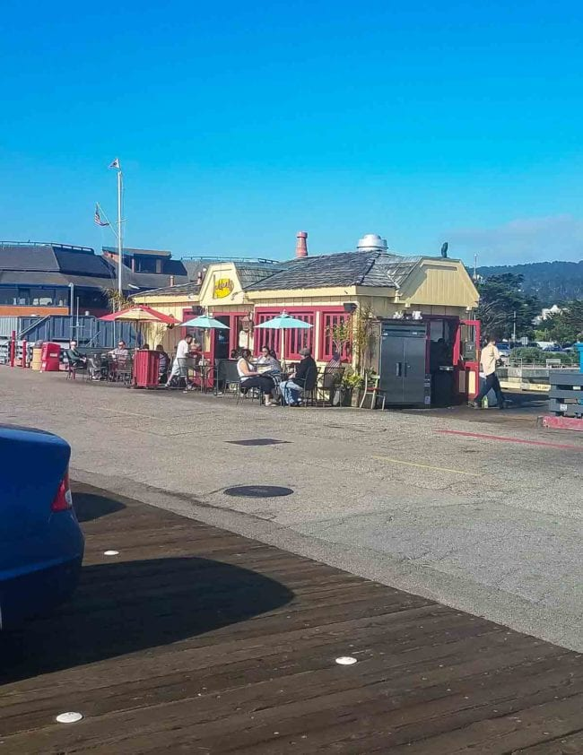 Small diner on pier in Monterey
