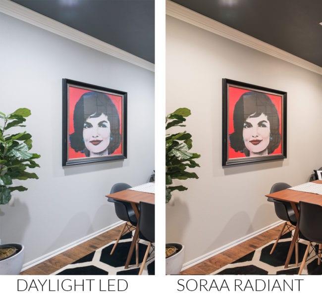 Comparison of Daylight LED bulb to Soraa Radiant lightbulbs