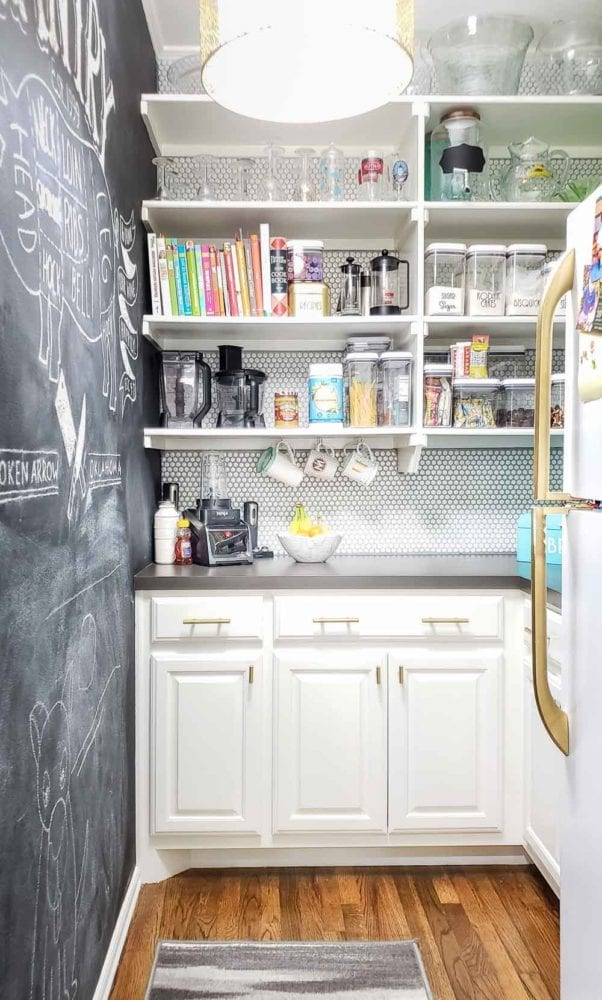 organized walk-in pantry