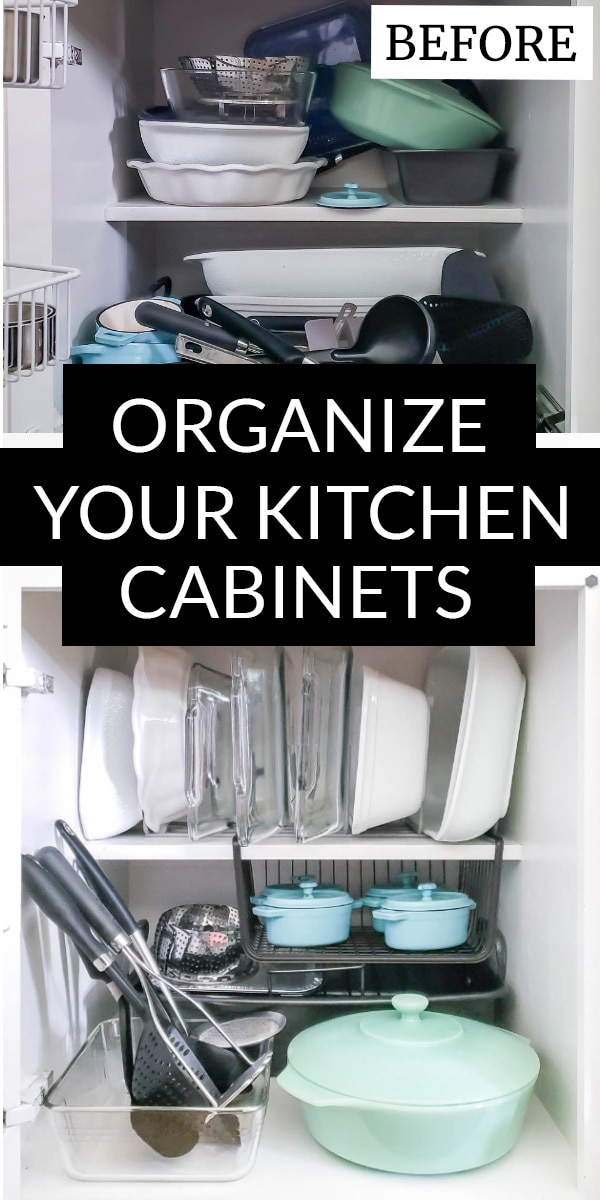 Messy baking dishes & organizezd baking dishes