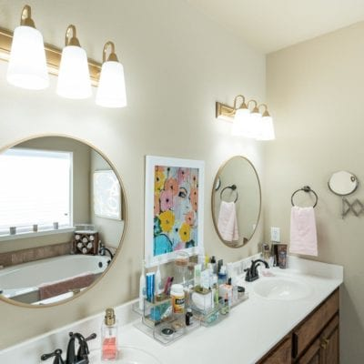 Bathroom Lighting Makeover