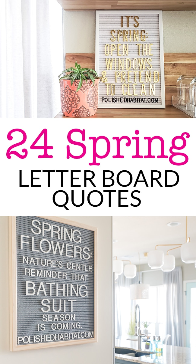 24 Spring Letter Board Quotes