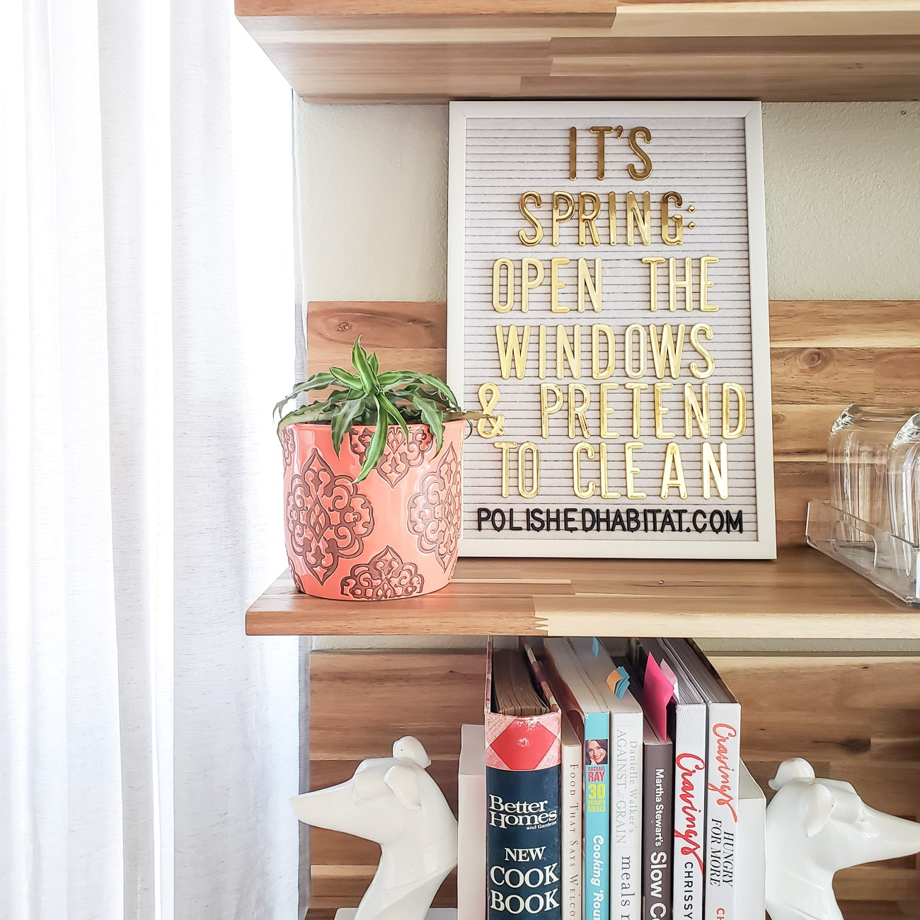 Spring Letter Board: It's Spring, Open the Windows & Pretend to Clean