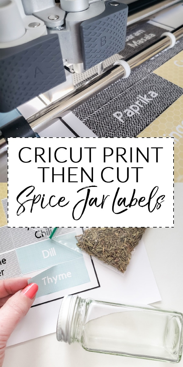 Cricut Print Then Cut Spice Jar Labels