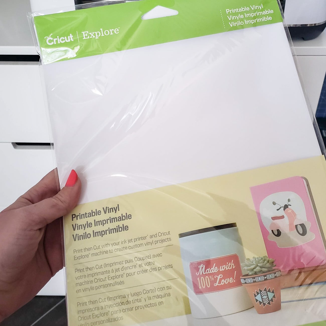 Cricut Printable VInyl Package