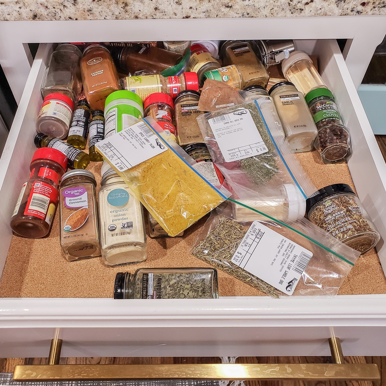 Messy Spice Drawer