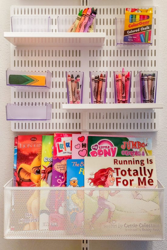 How to Organize Crayons & Coloring Books