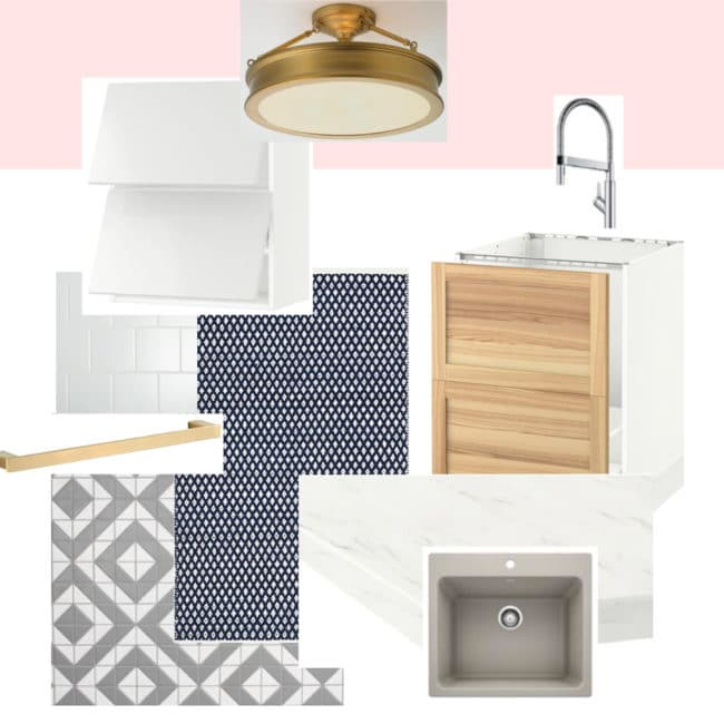 Laundry Room Makeover Mood Board by Polished Habitat